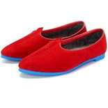 Bare Skin Red Jalsa with blue Sole Jutis