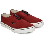 MK010 Maroon shoe for mens