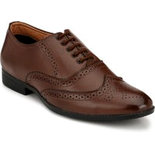 Elixir Man Brown Stylish Derby Brogues Lace-up Shoes Lace-up
