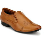 Elixir Man Tan Stylish Brogues Shoes Slip On