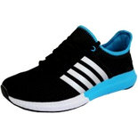 BB019 Black unique sports shoes
