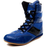 RXN Blue Boxing Wrestling Shoes