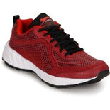 MM02 Maroon workout sports shoes
