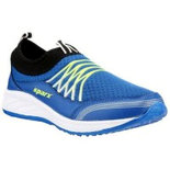 B038 Blue Size 8 Shoes athletic shoes