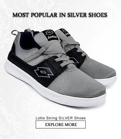 Silver  Sports Shoes